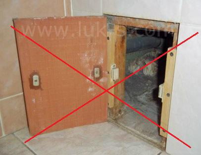 сделать самому сантехнические смотровые дверцы